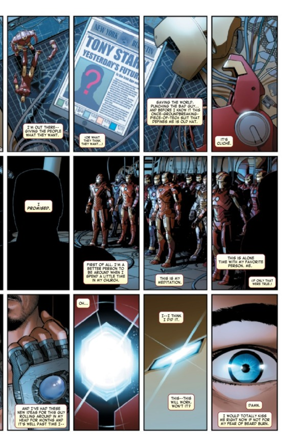 Invincible Iron Man #1 Page B