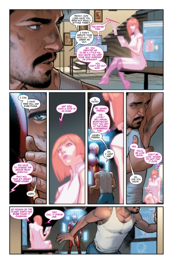 Invincible Iron Man #1 Page D