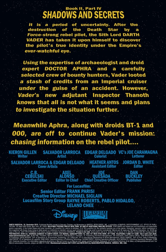 Star Wars Darth Vader #10 Page A