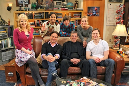The Big Bang Theory Cast with Leonard Nimoy