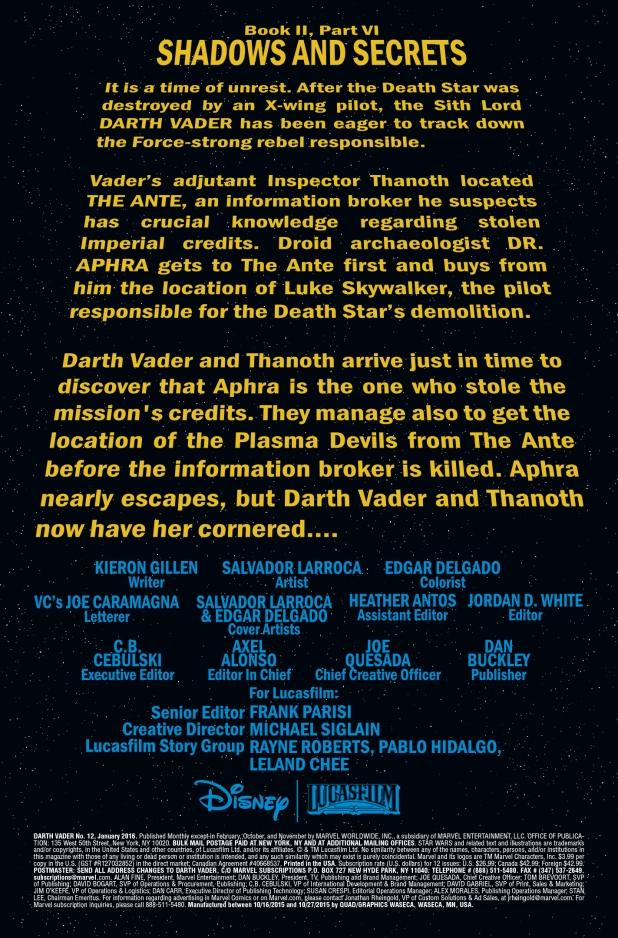 Star Wars Darth Vader #12 Page 1