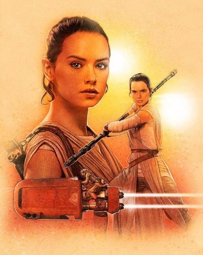 Star Wars Force Awakens Poster Paul Shipper A
