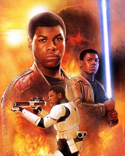 Star Wars Force Awakens Poster Paul Shipper B