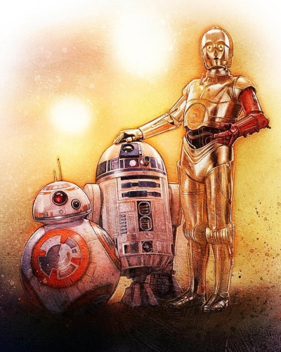 Star Wars Force Awakens Poster Paul Shipper D