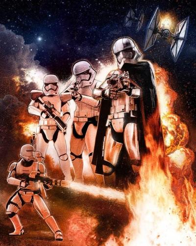 Star Wars Force Awakens Poster Paul Shipper F