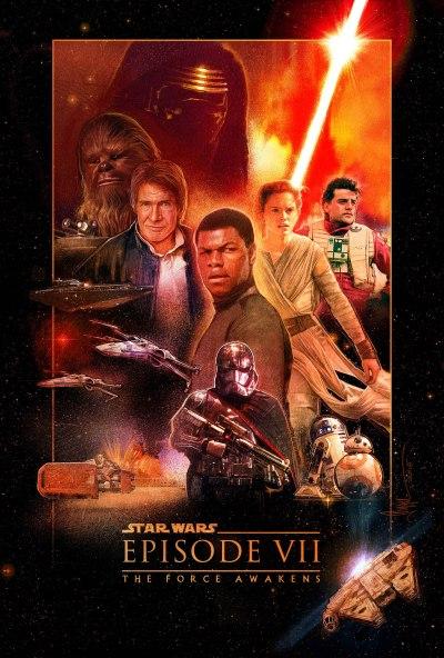 Star Wars Force Awakens Poster Paul Shipper G