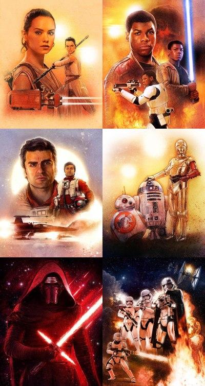 Star Wars Force Awakens Poster Paul Shipper