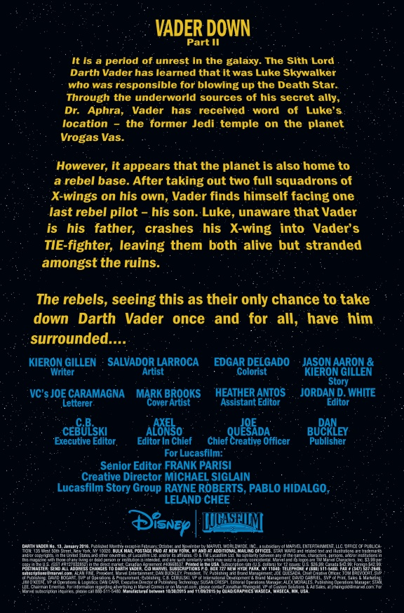 Star Wars Vader Down #2 Page 1