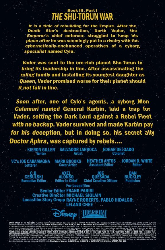 Star Wars Darth Vader #16 Page 1