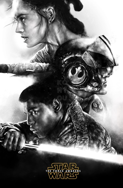 Star Wars The Force Awakens Fan Art poster