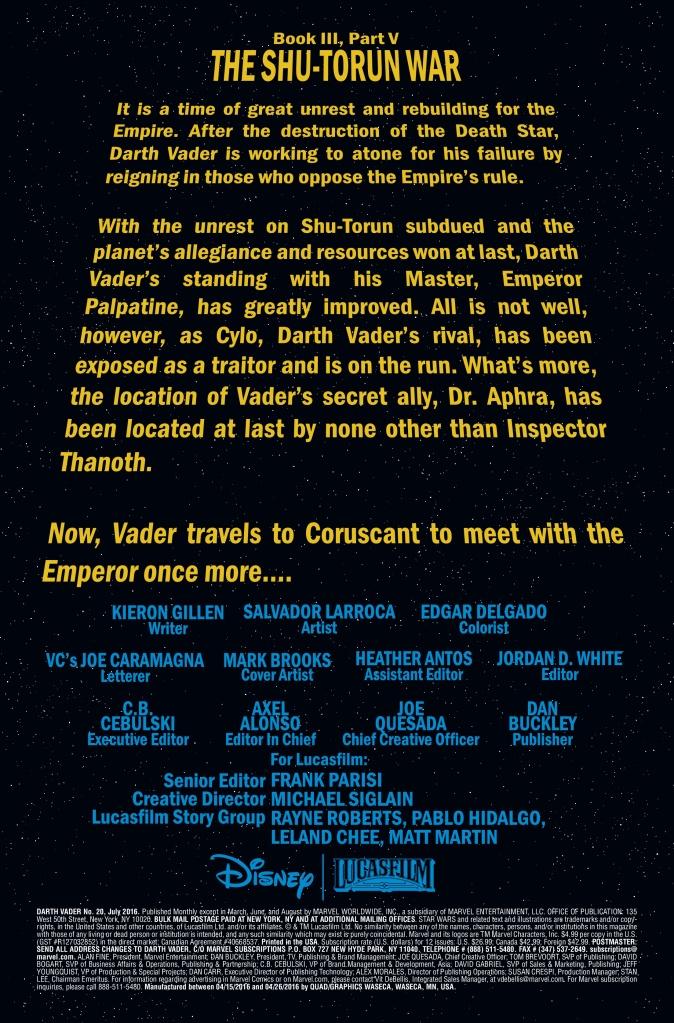 Darth Vader #20 Page 1