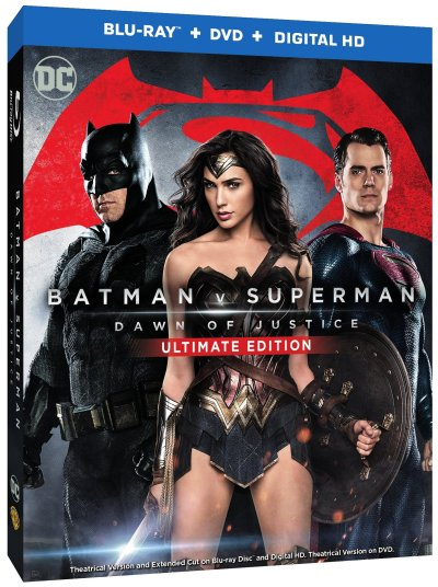 Batman v Superman Dawn of Justice blu-ray Cover