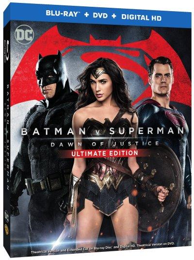 Batman v Superman Dawn of Justice blu-ray Cover