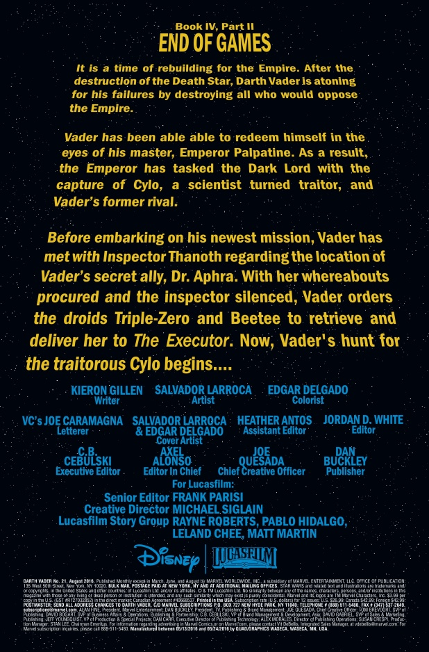 Star Wars Darth Vader #21 Page 1