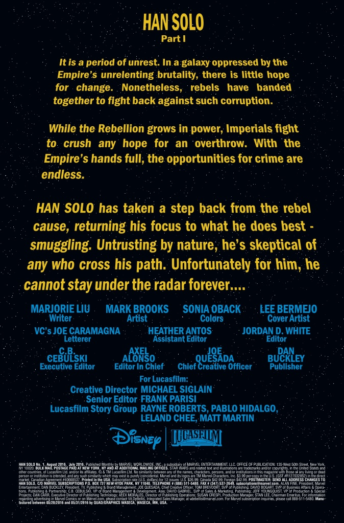 Star Wars Han Solo #1 Page 1