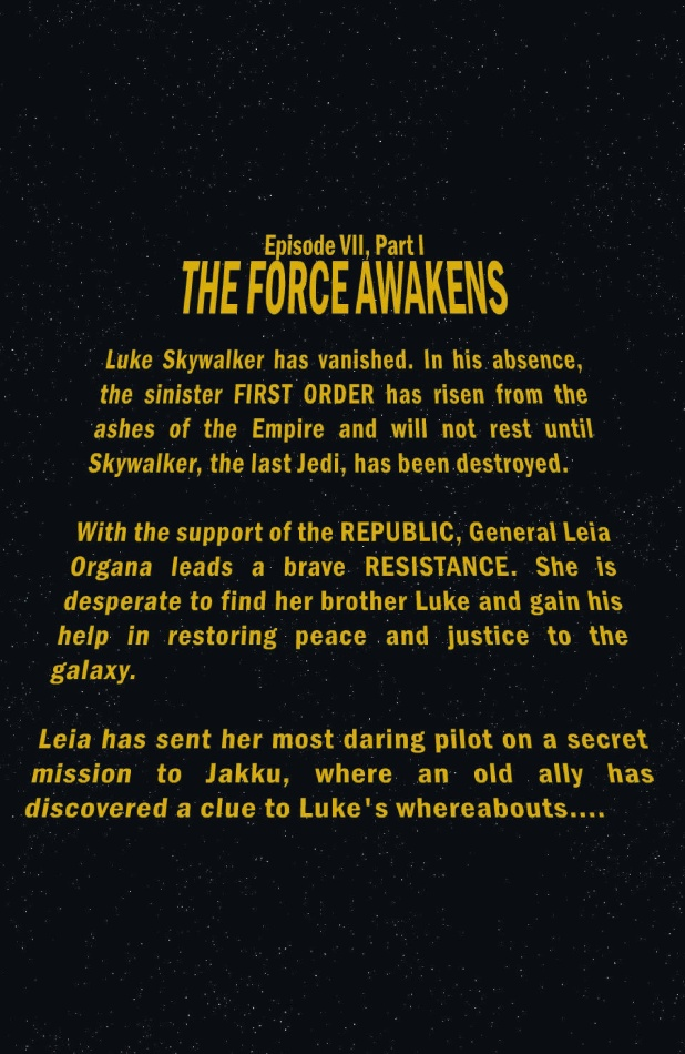 Star Wars The Force Awakens Page #1