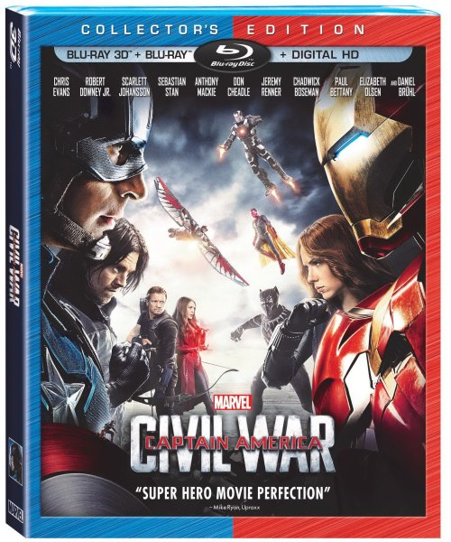 Captain America Civil War Blu-ray Cover Image