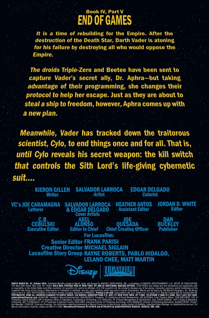 Star Wars Darth Vader #24 Page 1