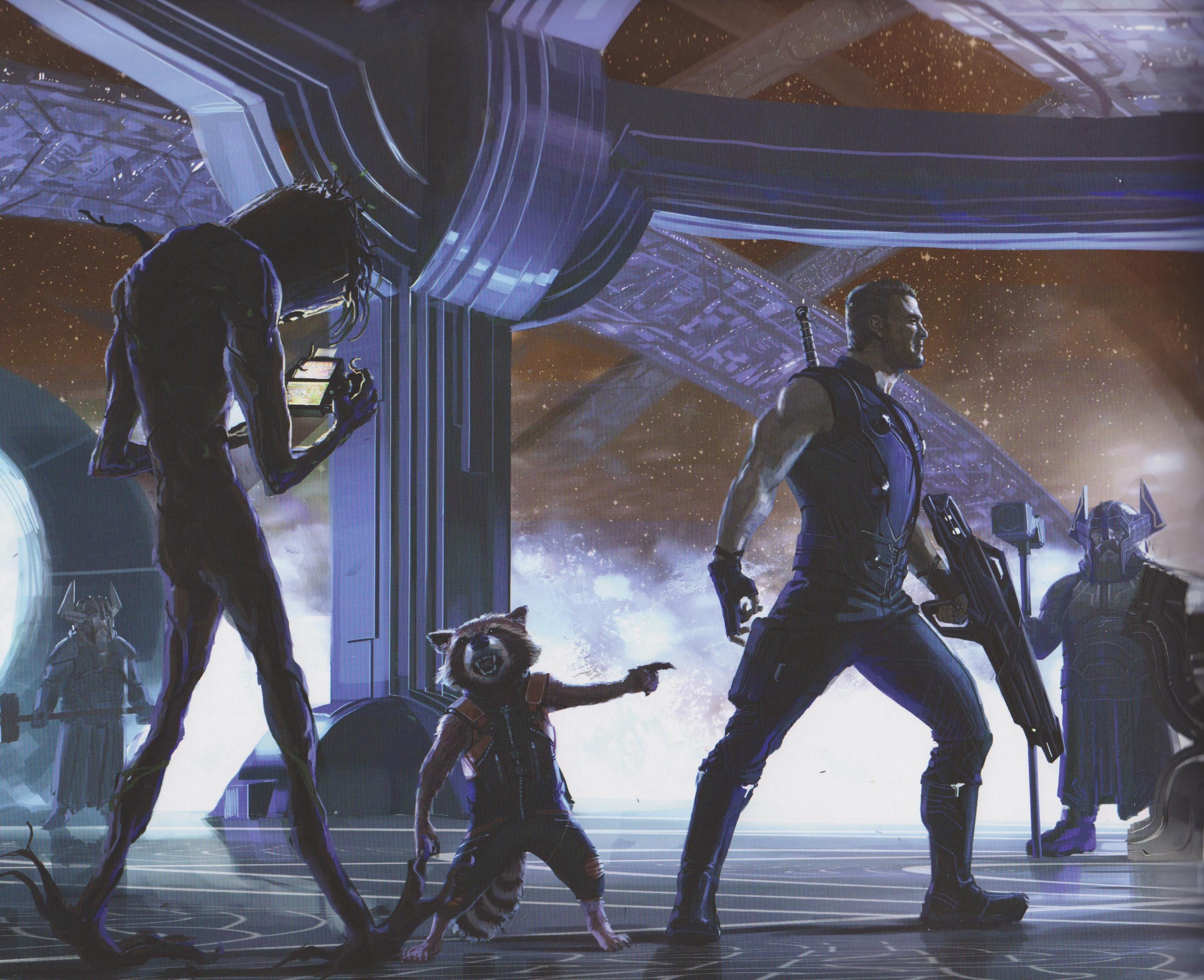 Marvel Infinity War Concept Art Book